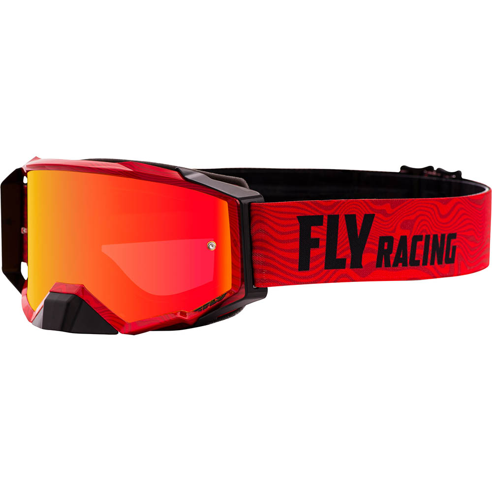 Fly Racing 2021 Zone Pro Red/Black Red Mirror/Amber Lens очки для мотокросса
