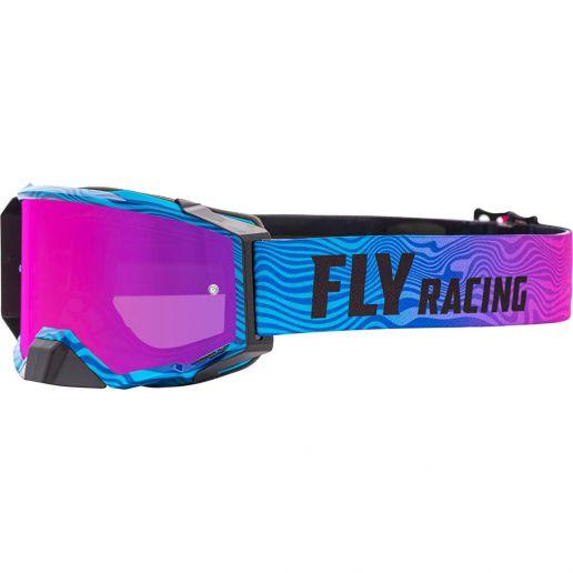 Fly Racing 2021 Zone Pro Pink/Blue Pink Mirror/Smoke Lens очки для мотокросса