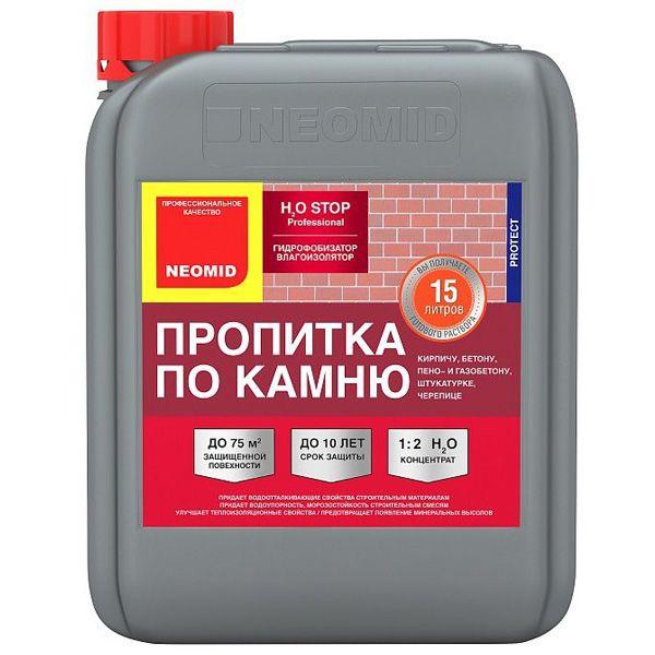 Пропитка по камню Neomid Н2О Stop, 5 л