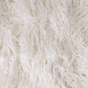Длинноворсовый мех  Белый 50х40
