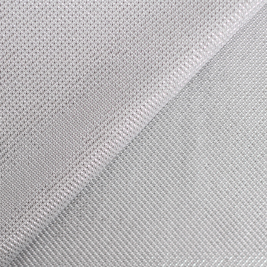 Лоскут трикотажной ткани с люрексом Серебро 50х37