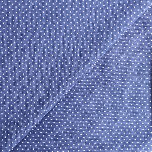 Лоскут трикотажной ткани Горошек на синем 50х30