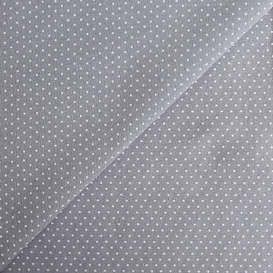 Лоскут трикотажной ткани Горошек на сером 50х30