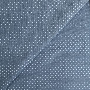 Лоскут трикотажной ткани Горошек на темно-сером 50х30
