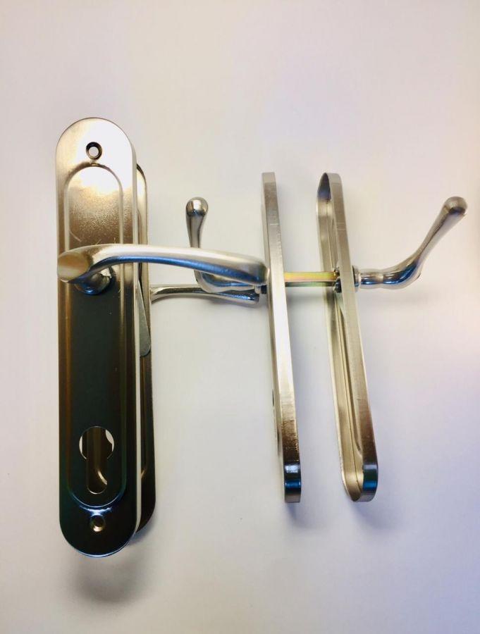 Ручка на планке, алюминий, Poignees, матовый хром, 85 мм, легкая