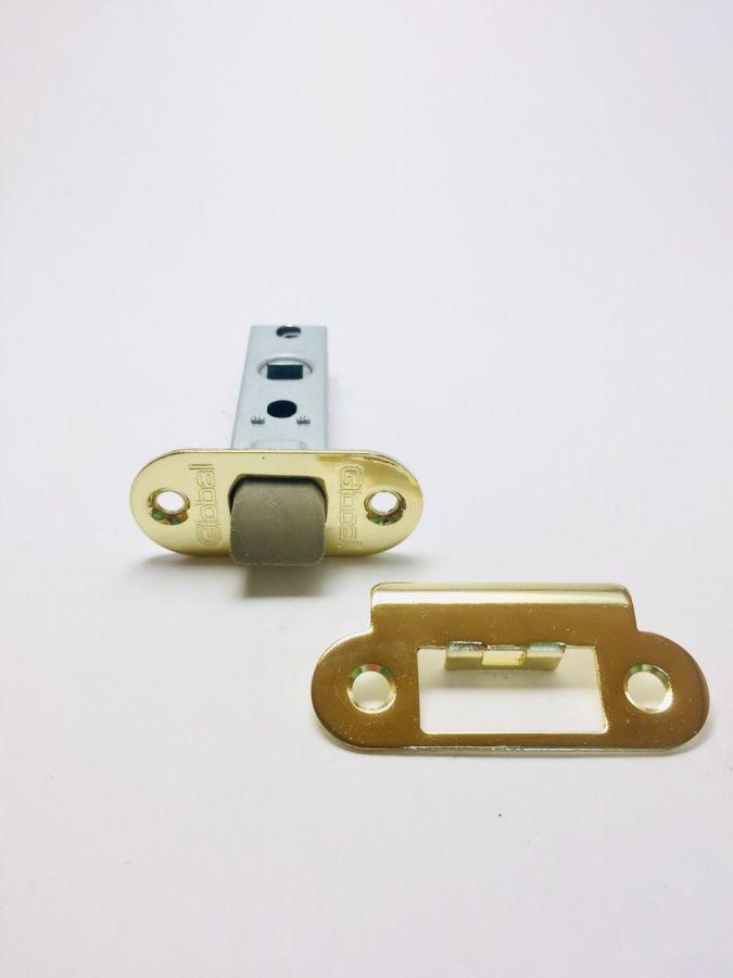 Защелка межкомнатная 45 мм, Global, пластиковый язычок, золото