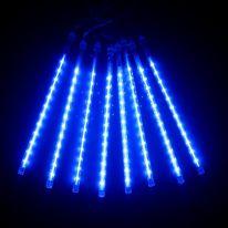 Светодиодная гирлянда Тающие сосульки, 8 шт., синий, 30 см.