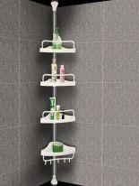 Регулируемая стойка в распор для ванных принадлежностей