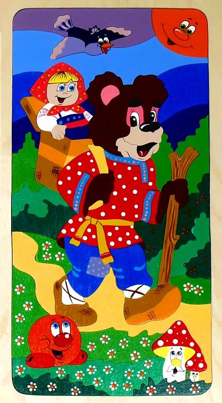 "Мозаика ""Колобок, Машенька и Медведь"""