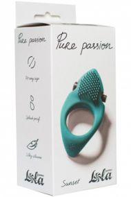 Эрекционное виброкольцо Lola Pure Passion Sunset зеленое