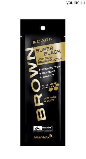 SUPER BLACK VERY DARK крем-ускоритель для загара с бронзатором 4-х кратного воздействия и slimming-эффектом 15 мл