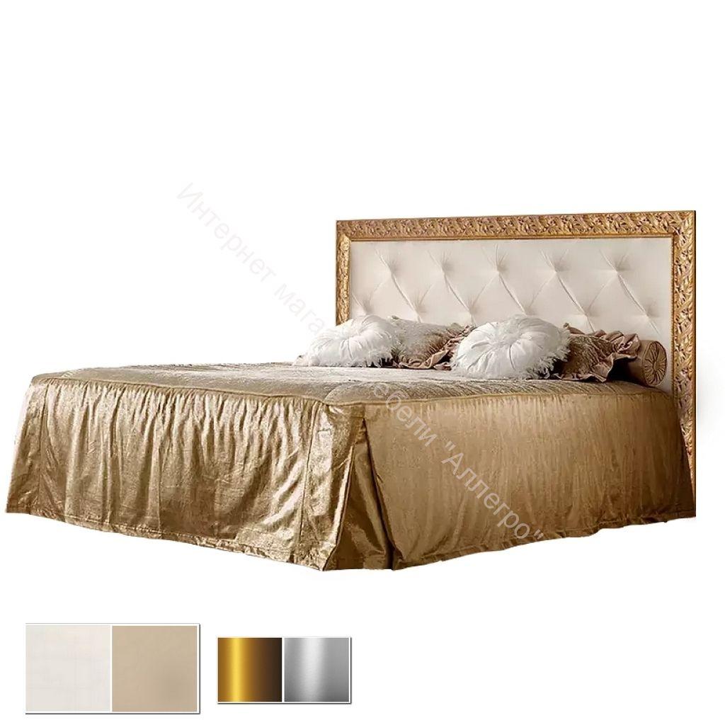 Кровать 2-спальная (1,6/1,8 м) с мягким элементом, стразами и подъемным механизмом Тиффани Премиум