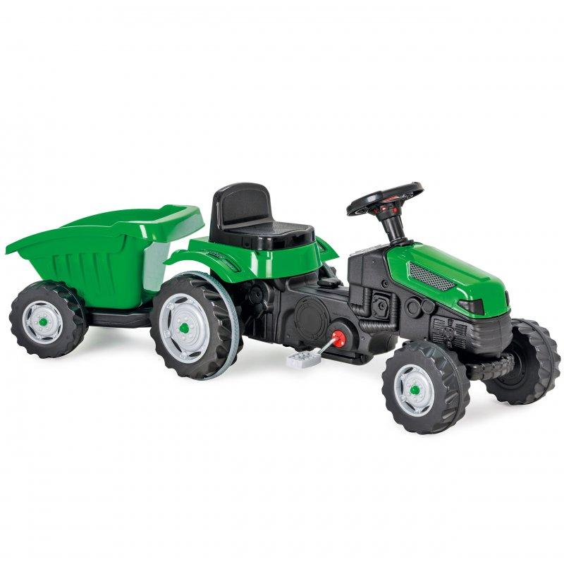 Трактор Макс WOOPIE на педалях с прицепом зеленый 28286