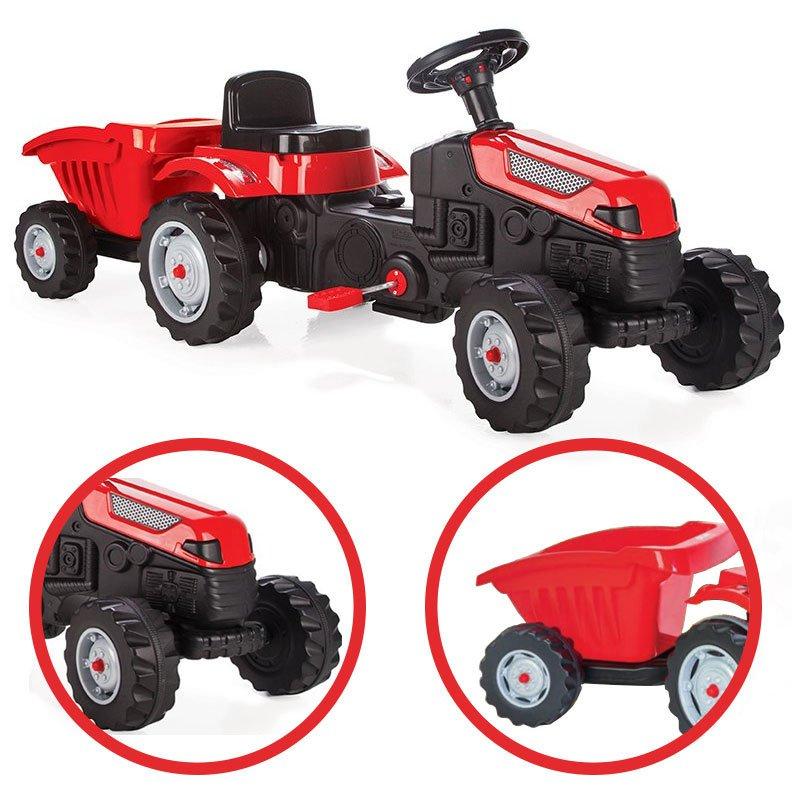 Трактор Макс на педалях с прицепом WOOPIE 28651
