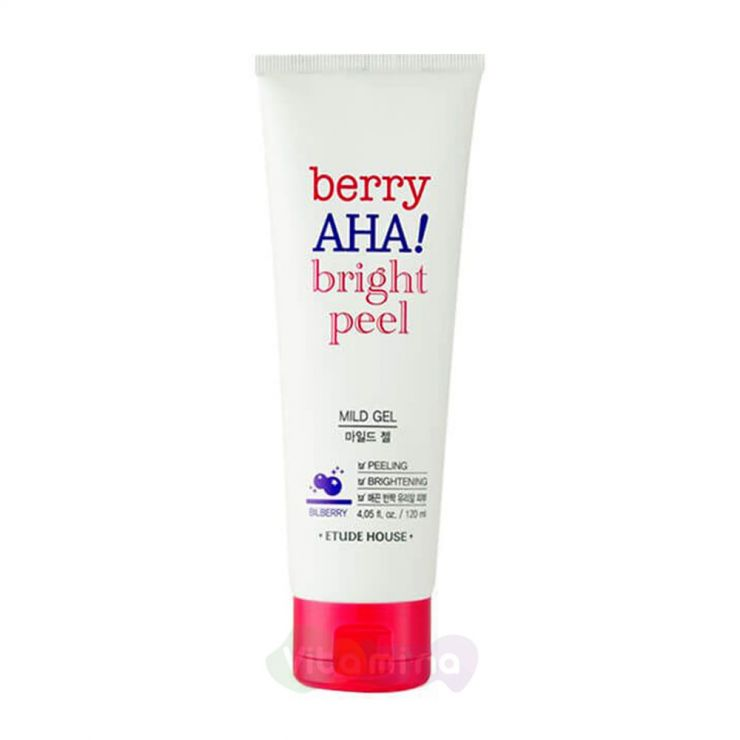 Etude House Пилинг-гель с АНА-кислотами Berry AHA Bright Peel Mild Gel, 120 мл