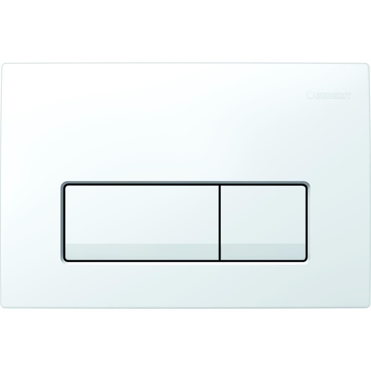 Кнопка смыва GEBERIT 115.105.11.1 Delta 51 пластик (бел)