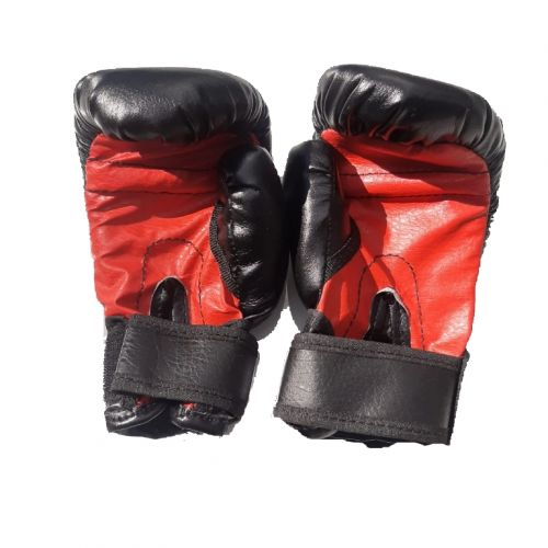 Боксерские перчатки детские, №4, 6, черно-красные