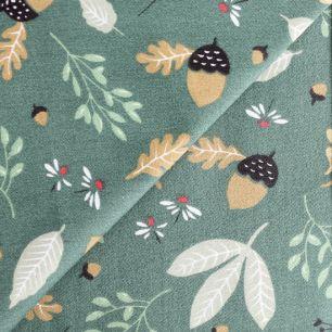 Ткань Хлопок Осенний лес 50x40