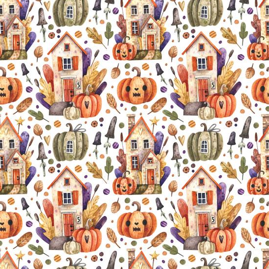 Хлопок Перкаль Хеллоуин 50х37