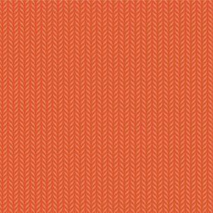 Хлопок Перкаль Вязаный узор на оранжевом 50х37