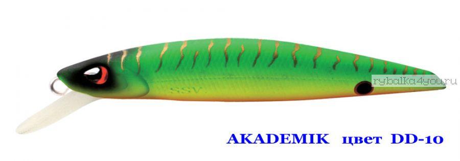 Воблер Silver Stream Akademik 74SP 75 мм / 4,9 гр / Заглубление: 0,7 - 1,1 м / цвет: DD-10