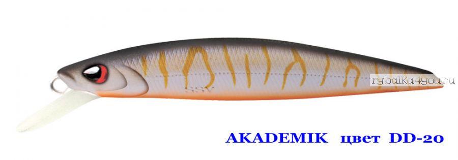 Воблер Silver Stream Akademik 74SP 75 мм / 4,9 гр / Заглубление: 0,7 - 1,1 м / цвет: DD-20