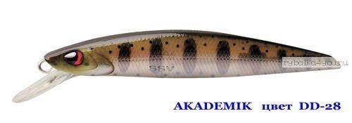 Воблер Silver Stream Akademik 74SP 75 мм / 4,9 гр / Заглубление: 0,7 - 1,1 м / цвет: DD-28