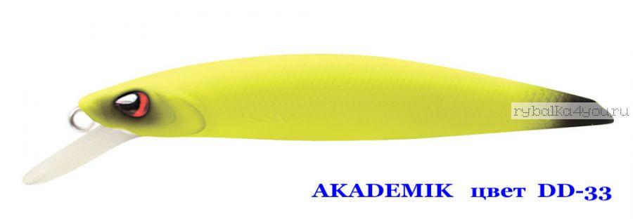 Воблер Silver Stream Akademik 74SP 75 мм / 4,9 гр / Заглубление: 0,7 - 1,1 м / цвет: DD-33