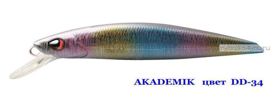 Воблер Silver Stream Akademik 74SP 75 мм / 4,9 гр / Заглубление: 0,7 - 1,1 м / цвет: DD-34