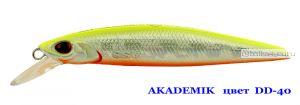 Воблер Silver Stream Akademik 74SP 75 мм / 4,9 гр / Заглубление: 0,7 - 1,1 м / цвет: DD-40