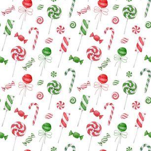 Хлопок Перкаль Рождественские леденцы 50х37