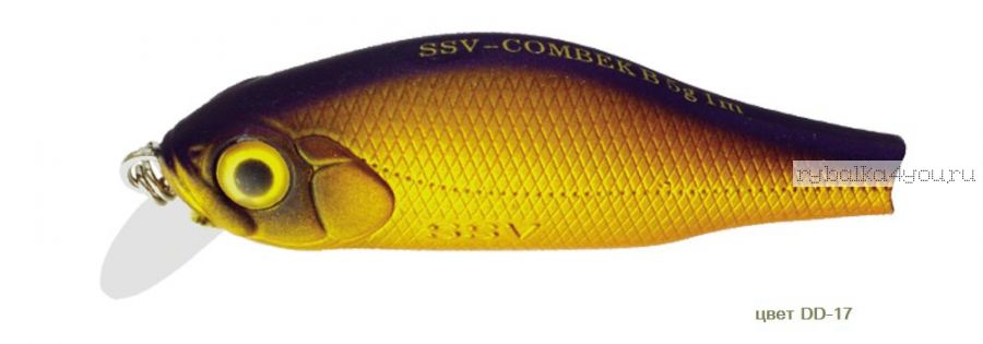 Воблер Silver Stream Combek B 50F 50 мм / 4 гр / Заглубление: 0,4 - 1 м / цвет: DD-17