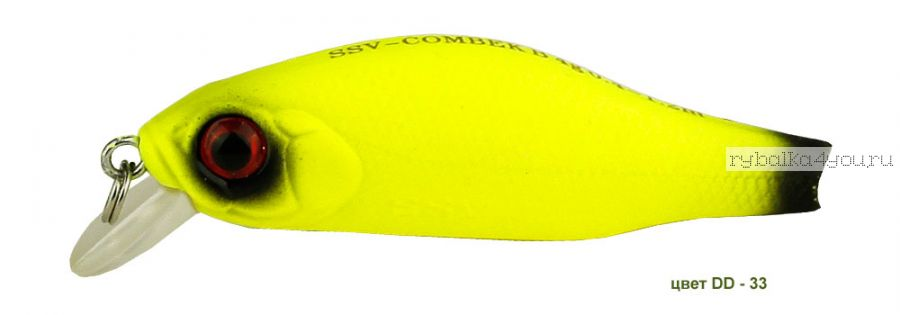 Воблер Silver Stream Combek B 50F 50 мм / 4 гр / Заглубление: 0,4 - 1 м / цвет: DD-33