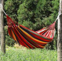 Красный полотняный гамак, ширина 80 см