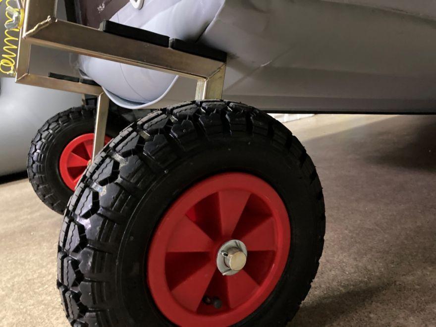 Шасси (колеса) транцевые на струбцине с увеличенным диаметром колес D310