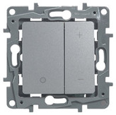 Светорегулятор (диммер) нажимной 400Вт алюминий Legrand Etlka
