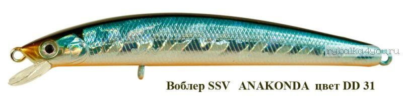 Воблер Silver Stream Anakonda 95F 95 мм / 8 гр / Заглубление: 0,4 - 0,6 м / цвет: DD-31