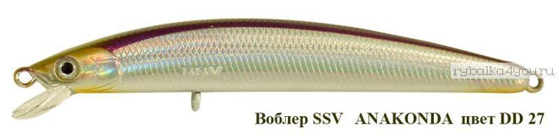 Воблер Silver Stream Anakonda 95F 95 мм / 8 гр / Заглубление: 0,4 - 0,6 м / цвет: DD-27