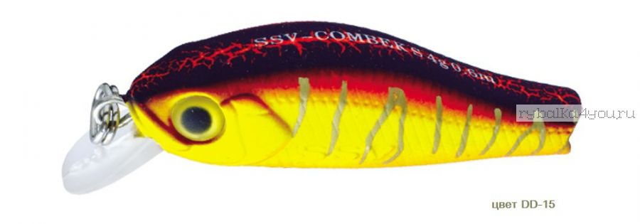 Воблер Silver Stream Combek S 35S 35 мм / 2 гр / Заглубление: 0,4 - 0,6 м / цвет: DD-15