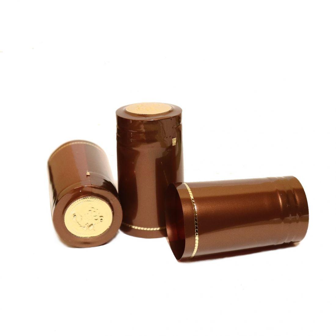 Термоусадочный колпачок коричневый Виски (10 шт)