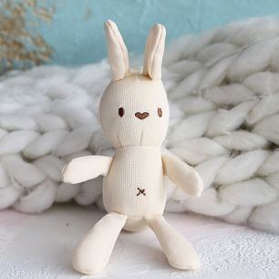 Зайка для куклы бежевый,  15 см