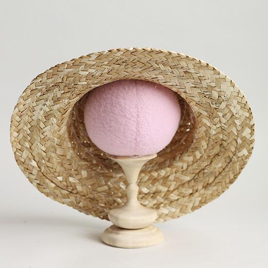 Соломенная шляпка большая, 25 см