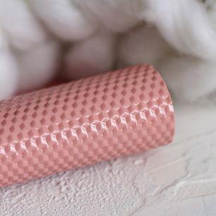 Экокожа для кукольных ботиночек Кубики на розовом 30х22