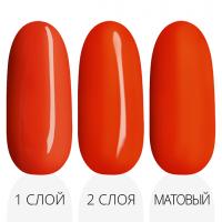 Лак'ю гель-лак R 03 - три слоя красная палитра