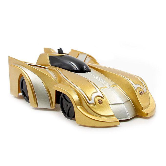 Радиоуправляемая антигравитационная машинка Climb Force, цвет золотой