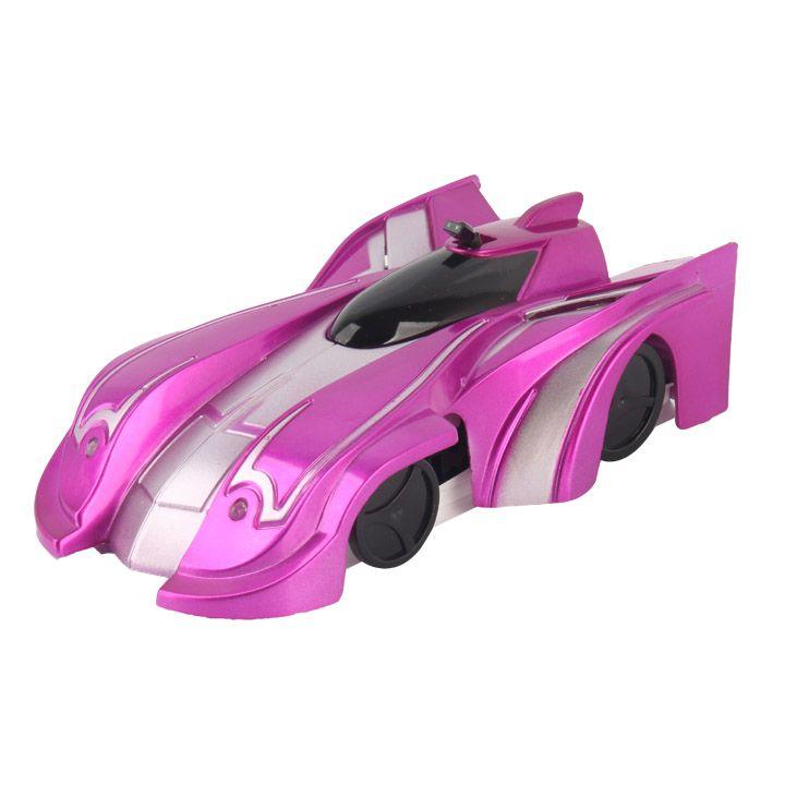 Радиоуправляемая антигравитационная машинка Climb Force, цвет розовый