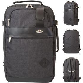 Рюкзак ACTION городской, с отделением для ноутбука, размер 46x29.5x15 см, черный, д/мальчиков
