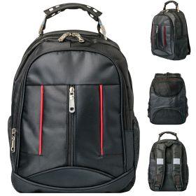 Рюкзак ACTION, размер 39*28*11,5 см, городской, черный, мягкая спинка, унисекс