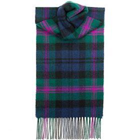 теплый шотландский шарф 100% шерсть ягнёнка , тартан клана Бэрд- Голова Грифона BAIRD MODERN TARTAN LAMBSWOOL SCARF