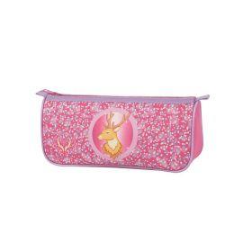 Пенал ULTRA COLLECTION, на 1 молнии, без наполнения, разм.22.5x7x10 см, розовый, для девочек